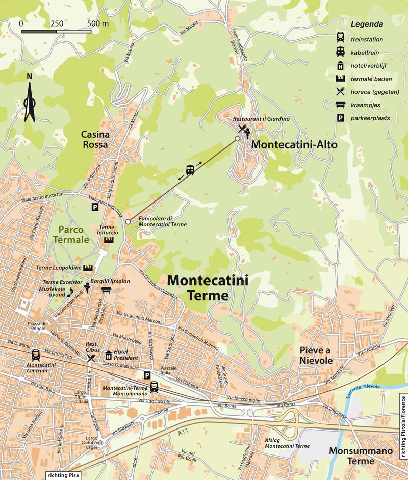 Montecatini Terme plattegrond