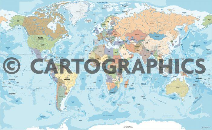 Wereldkaart Cartographics